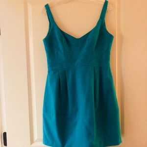 Turquoise Structured Mini Dress